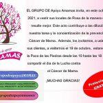 18.10.2021 Grupo de Apoyo Amamas invita a actividad a celebrarse mañana